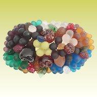 Beautiful 1920 Czech Glass Fruit Top  ~ It is a Beauty!