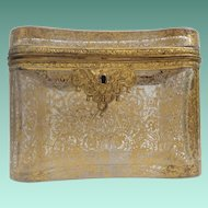 "Magnificent Antique French Casket Hinged Box  ~ ""Grandest GILDING"" ~ Sold AS IS ! ~  AWESOME DISPLAY BOX"