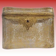 """Magnificent Antique French Casket Hinged Box  ~ """"Grandest GILDING"""" ~ Sold AS IS ! ~  AWESOME DISPLAY BOX"""