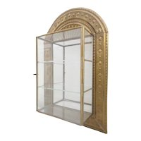Stunning Brass and Glass Wall Miniature Curio Display Cabinet ~ The Perfect Place for a Wonderful Collection of Tiny Treasures