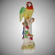 """BEAUTIFUL 24"""" Dresden Porcelain Parrot"""