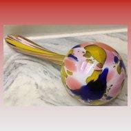Antique End of Day Art Glass Sock Darner