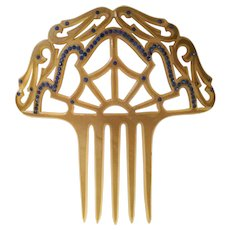 Grandest Victorian Jeweled Hair Comb
