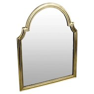 "BEAUTIFUL 17 ½"" Antique Bronze Vanity Mirror ~ Arched Top with Beveled Mirror ~ A Lovely Vanity Mirror from My Treasure Vault."