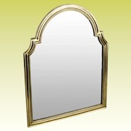 """BEAUTIFUL 17 ½"""" Antique Bronze Vanity Mirror ~ Arched Top with Beveled Mirror ~ A Lovely Vanity Mirror from My Treasure Vault."""