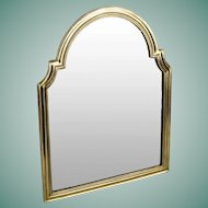 """Gorgeous   17 ½"""" Antique Bronze Vanity Mirror ~ Arched Top with Beveled Mirror ~ A Lovely Easel Vanity Mirror from My Treasure Vault"""