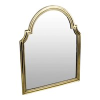 "Stunning 17 ½"" Antique Bronze Vanity Mirror ~ Arched Top with Beveled Mirror ~ A Lovely Easel Vanity Mirror"