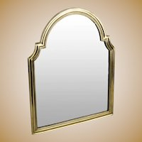 """Stunning 17 ½"""" Antique Bronze Vanity Mirror ~ Arched Top with Beveled Mirror ~ A Lovely Easel Vanity Mirror"""