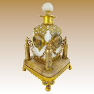 """Palais Royal Opaline """"Eglomise"""" Perfume in Ornate Holder ~ A BEAUTY from My Treasure Vault."""