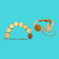 "8"" Antique American $5 Gold Coin Bracelet  ~  Eight  $5 Liberty Head Gold Coins ~ 72.22grams ~ Rare and Glorious"