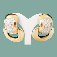 14Karat Diamond Door Knocker Earring ~  4.60 carat TW