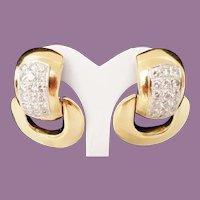 14Karat Diamond Door Knocker Earring ~  4.60 carat TW