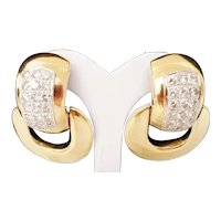 Exquisite  14Karat Diamond Door Knocker Earring ~ 4.60 carat TW