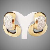 Exquisite  14Karat Diamond Door Knocker Earring ~ 4.60 carat TW