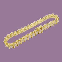 "5.60 carat 14KARAT Diamond Bracelet  ""BEAUTIFUL"""
