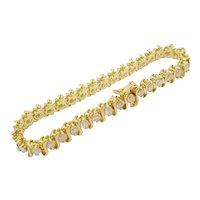 "5.60 carat 14KARAT Diamond Bracelet  ""BEAUTIFUL"""