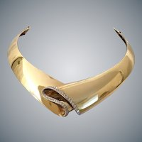 """Exquisite Scavia 18KARAT Yellow Gold Diamond Choker Necklace ~  """"Absolutely AWESOME""""  ~  DREAM FIT"""