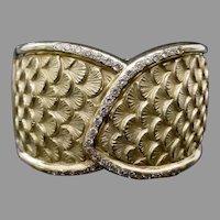 18K Diamond Bangle Bracelet ~  A Masterpiece
