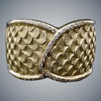 SIMPLY  S P E C T A C U L A R  18K Diamond Bangle Bracelet ~ A Masterpiece