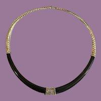 14K Black Onyx & Diamond  Necklace ~ A  Glorious  MASTERPIECE  ~ Fits & Feels Like a Dream!