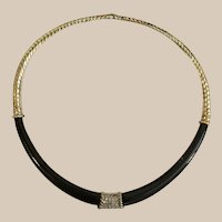 14K Black Onyx & Diamond  Necklace ~ A  Glorious  MASTERPIECE  ~ Fits & Feels Like a Dream!
