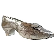 Antique German 800 Silver Shoe ~RARE  and  Absolutely Exquisite