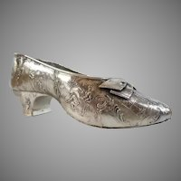 BIG Antique German 800 Silver Shoe ~RARE and  Absolutely Exquisite