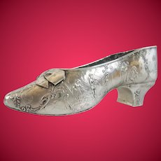 CHarming Antique German 800 Silver Shoe ~This is a BEAUTY!
