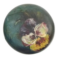 "Antique Painted ""PANSIES"" Hat Stand  ~ Lovely"