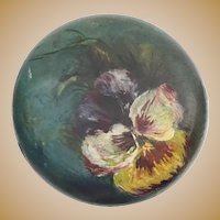 """Antique Painted """"PANSIES"""" Hat Stand  ~ Lovely"""