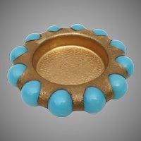 Vintage Estate Fisher Trinket  Tray wBlue Marbles