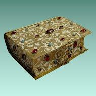 Antique Austrian Enameled Jeweled Bronze Hinged Box