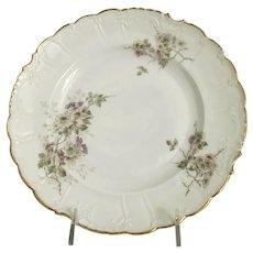 8 Vintage Imperial Austria PSL Empire Hand Painted Porcelain PLATES ~ Sweet Lavender Flowers