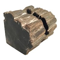 Marvelous  Antique Black Marble Bookends ~ Uncut One Side and Two Side are Polish ~ They are Beautiful!