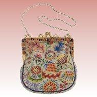 Magnificent 1900 Austrian Jeweled Purse ~ Nine Oval Amethyst and Ten Carnelian Gems ~  Stamped AUSTRIA