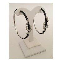 18K Diamond Black Onyx  SNAKE  Earrings  ~ Ruby Eyes ~ KILLER EARRINGS ~ Magnificent