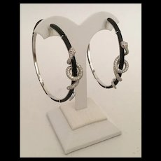 "Glorious Estate 18KARAT Diamond Black Onyx  SNAKE  Earrings  ~  ""RUBY EYES"" ~ KILLER EARRINGS and Very Fine"