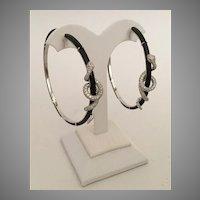 DAZZLING  18K Diamond Black Onyx  SNAKE  Earrings  ~ Ruby Eyes ~ KILLER EARRINGS~ Magnificent