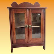 Antique Miniature Cabinet Vitrine Curio ~ Double Doors ~  A Wonderful Display Area for Your Miniature Treasure