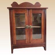 Antique Miniature Cabinet Vitrine Curio ~ Double Doors ~  A Wonderful Display Area for Your Miniature Treasure