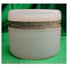 Pretty Antique French Savon De Savon Opaline Hinged Box