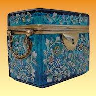 """Antique Blue Moser Double Handle Casket """"FAB Color"""""""