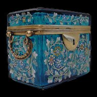 "Antique Blue Moser Double Handle Casket ""FAB Color"""