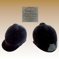 "English ""LOCK and Co"" Ladies Riding Hat ""Original Cardboard Box"""