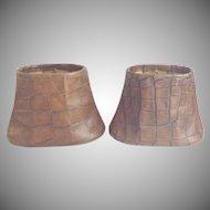 Vintage Faux Crocodile  Lamp Shades