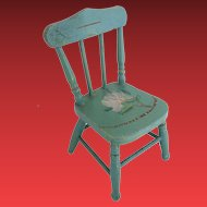"""Antique Painted Doll Miniature Chair """"Paint Loss,Chip, Nips"""""""