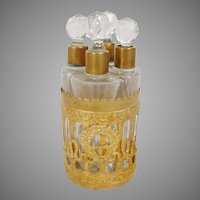 "Stunning  Antique Perfume Scent Caddy  ""Empire Style"""