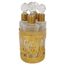 """Stunning  Antique Perfume Scent Caddy  """"Empire Style"""""""