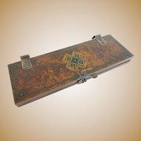 RARE Antique Handpainted Tie Press
