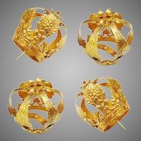 Antique French 18K and Diamond Crown w 12 Diamonds